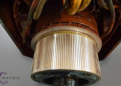 Zažagani kolektorji enosmernega motorja